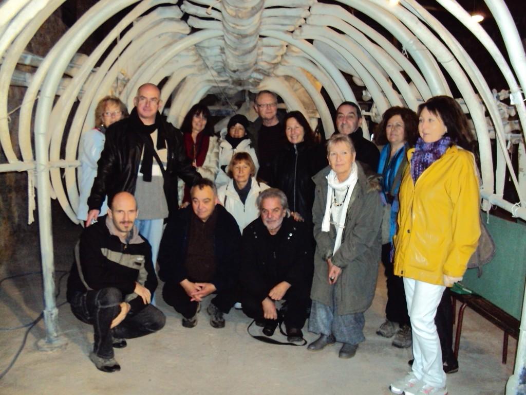 Michel Sidobre:  lectures au Domaine de Jugnes dans la baleine
