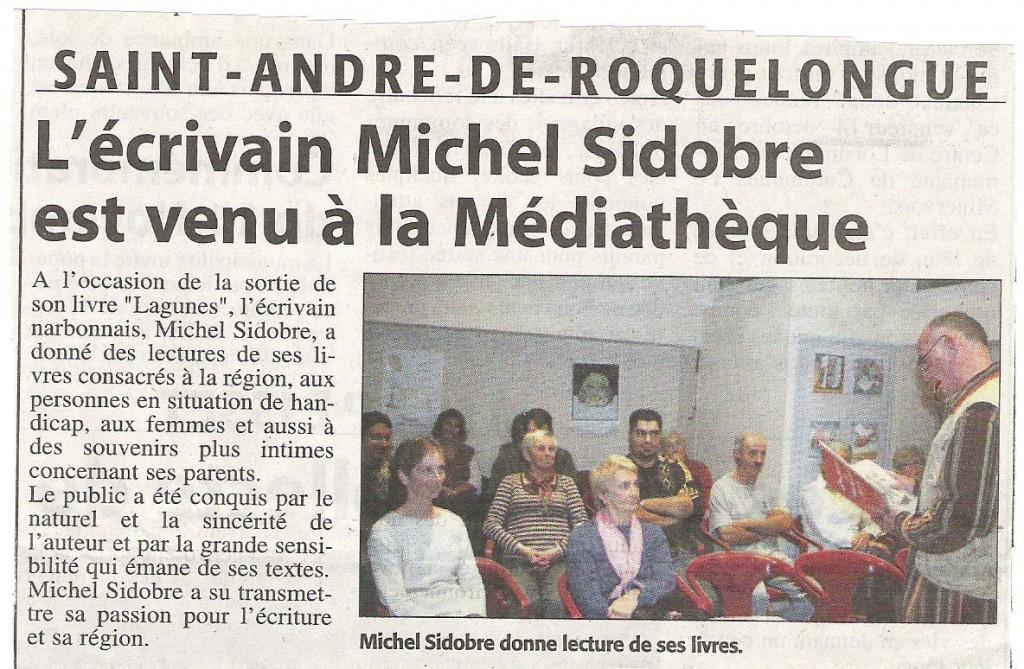 Michel Sidobre en Médiathèque
