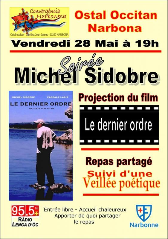 Affiche soiree michel sidobre